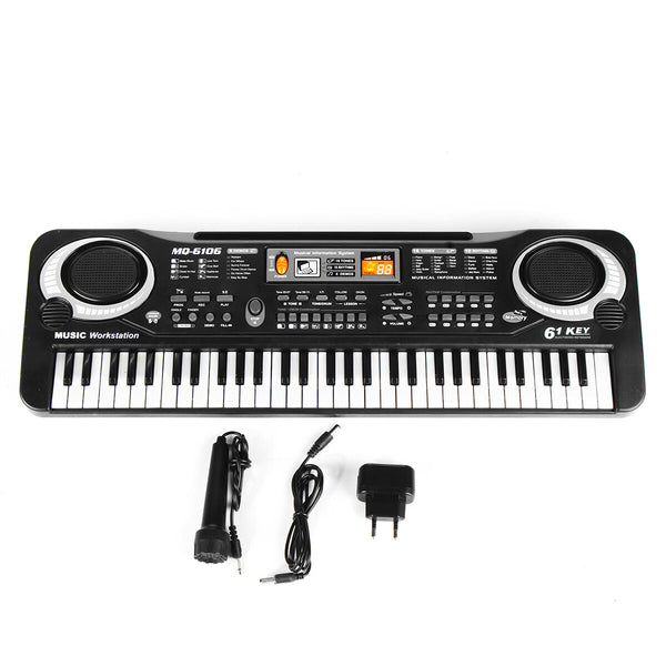 Children Kids Electronic Keyboard Electric Piano 61 Keys Musical Instruments with USB + Microphone