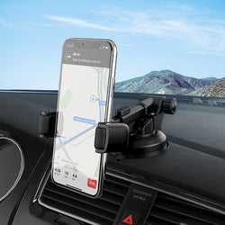 HOCO Clamp Dashboard Car Phone Holder Car Phone Mount For 4.0-6.5 Inch Smart Phone iPhone Samsung Huawei Xiaomi