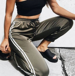 Hot Sale Fashion Leggings Sweat Wear Plus Size S-XL Women Joggers Casual Loose Side Striped Long Pants Sweatpants Trousers