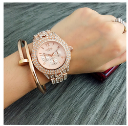 2020 New Hot Sale Contena Classic Women Full Diamond Dress Watches Ladies Quartz Watch Gold Woman Watches Reloj Mujer