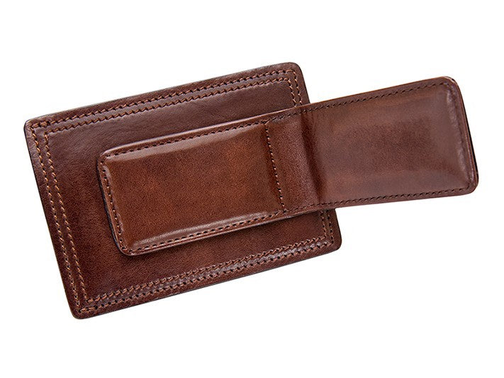 Bosca - Deluxe Front Pocket Wallet - Dark Brown 78-218