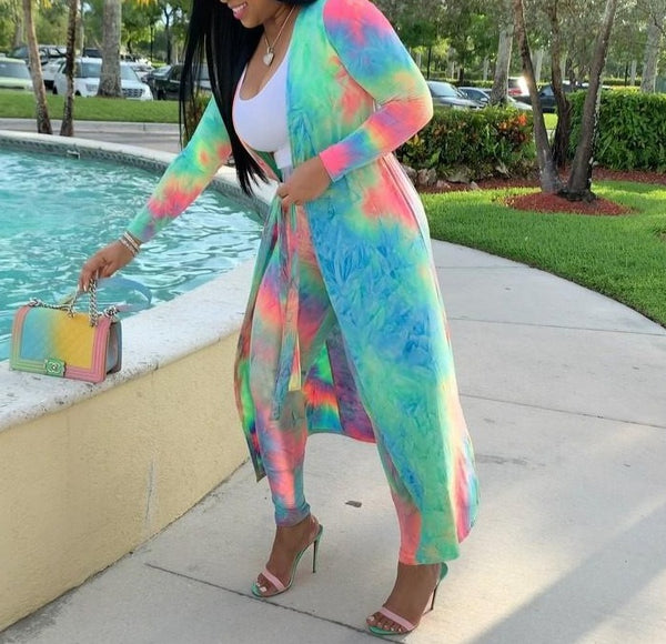 Tye Dye Duster and Pant Set