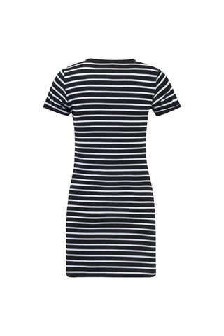 Summer Casual Striped O-neck Short-sleeved Dress