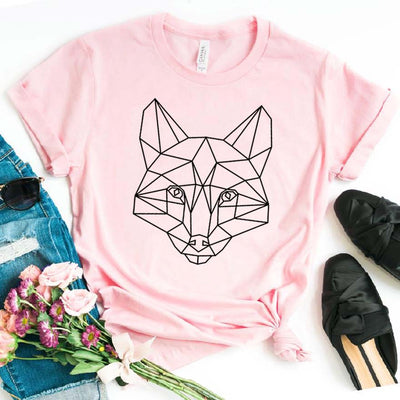 Geometric fox Print Women t-shirt