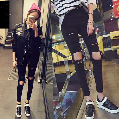 Cool Denim High Waist Skinny Jeans Pants