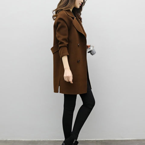 Double Breasted Loose Suit Coat