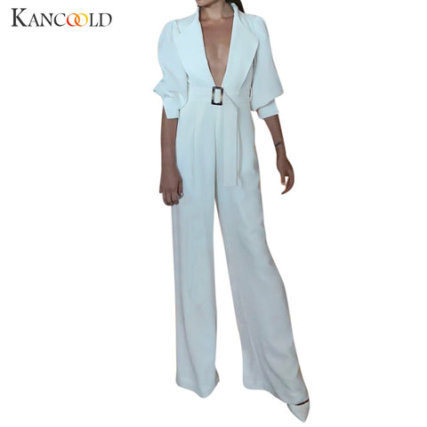 Women's Lantern Sleeve Wide Leg  Jumpsuit