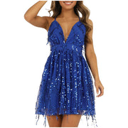 Sleeveless Flashy Sequins Dress