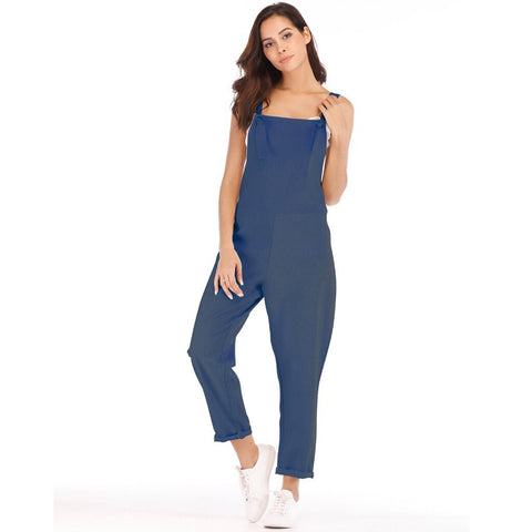 Casual Handsome Sleeveless Jumpsuits