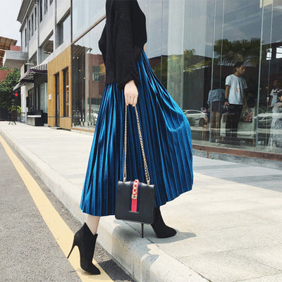 New Fashion Autumn Winter Pleated Skirt