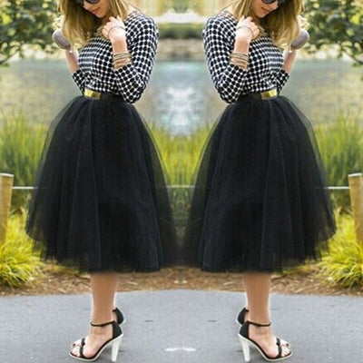 Under Rockabilly Petticoat Tutu Tulle Skirt