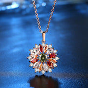Trendy Multi-color luxury Flower Necklace