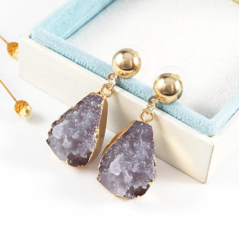Resin Stone Earrings