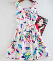 Ladies' Print Casual Summer Dress