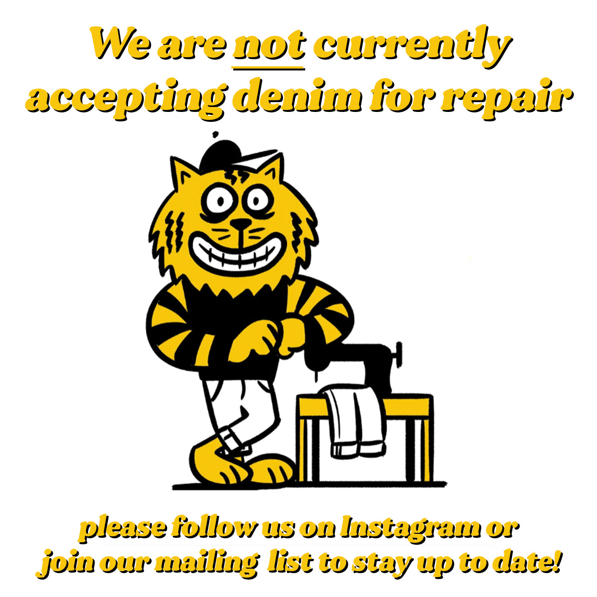 Denim Repairs not currently offered