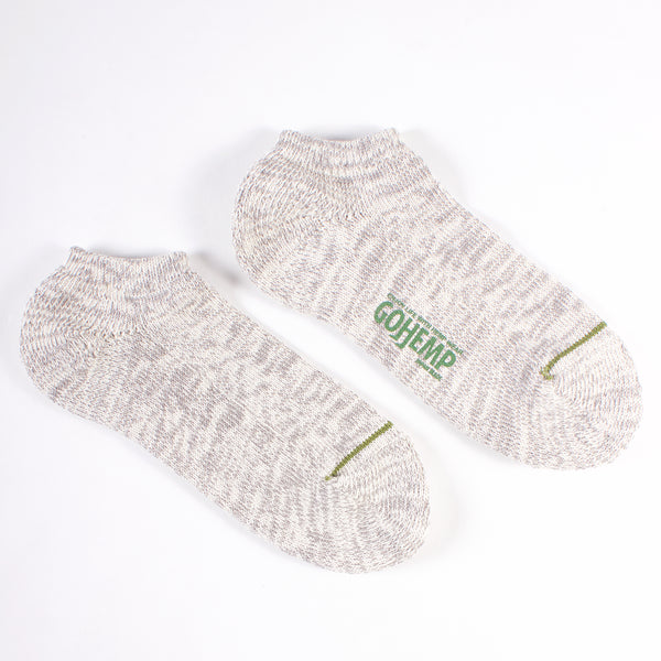 GO HEMP! Organic Cotton Ankle Socks - Gray