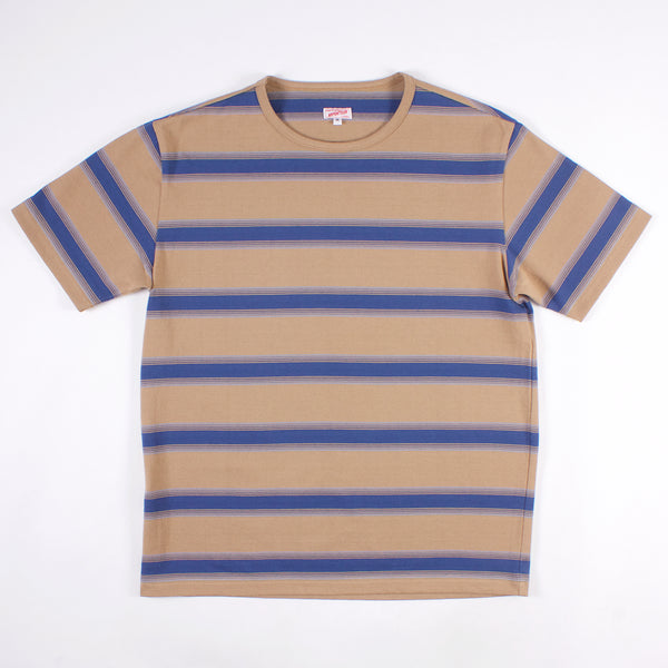 Match Tee - Sand/Quad Blue