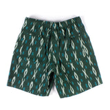 Active Lazy Shorts - Green Ikat