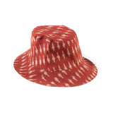 Reversible Bucket Hat - Tan / Clay Ikat