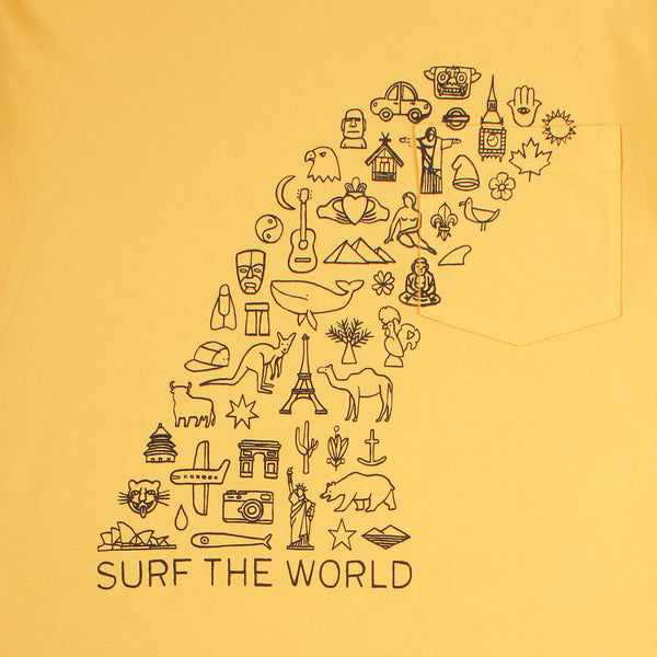 Long Sleeve Pocket Tee - Surf The World