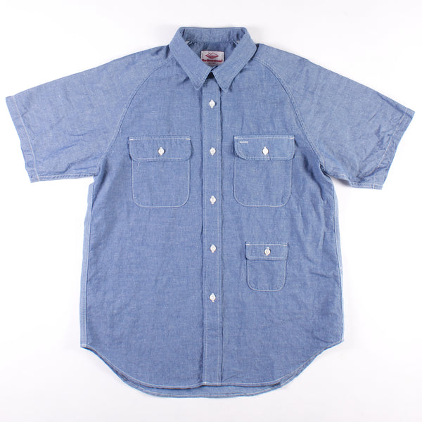 Short Sleeve Camp Shirt - Light Indigo Chambray