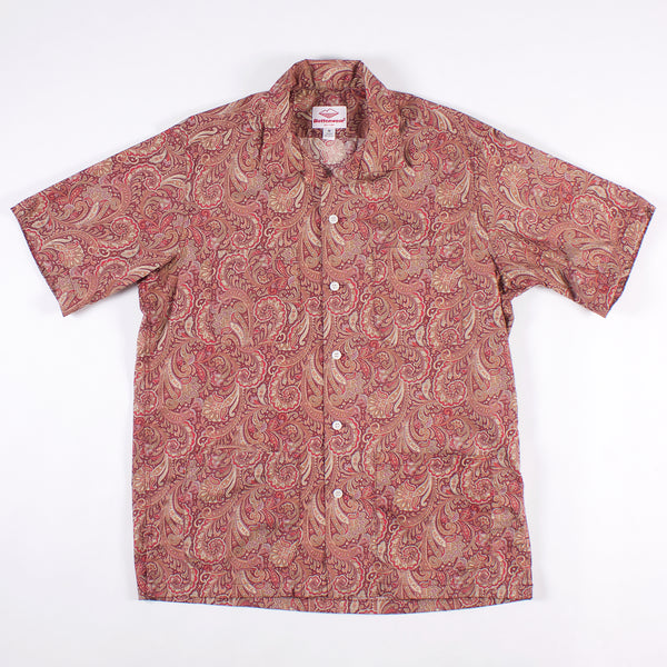 Five Pocket Island Shirt - Red Paisley