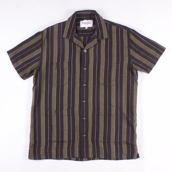 Summer Shirt - Black / Olive Summer Stripe