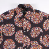 Short Sleeve Buttondown Shirt - Medallion Kalamkari