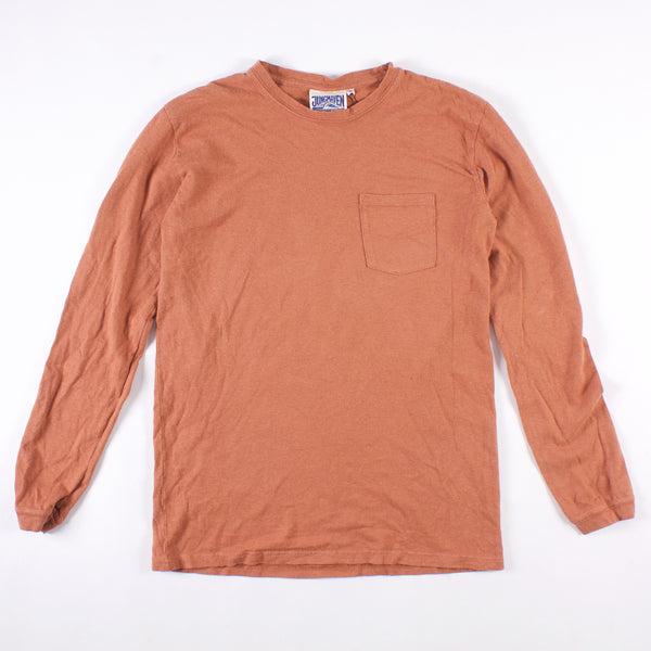 Baja 7oz LS Pocket Tee - Terracotta