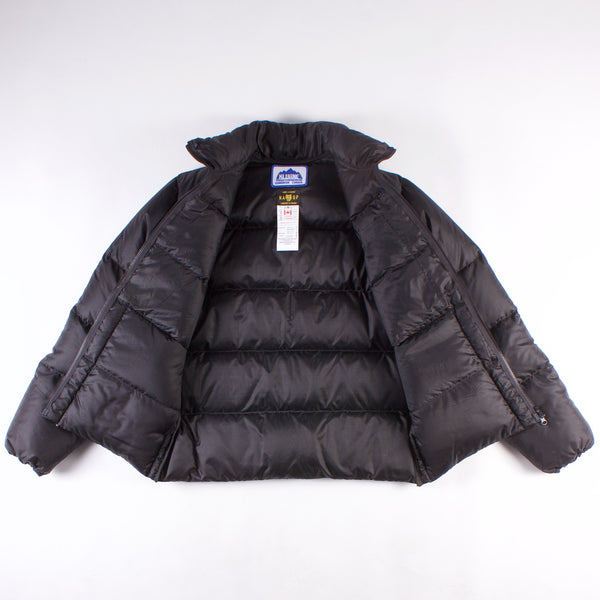 Down Puffer Jacket - Black Nylon Ripstop