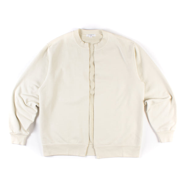 Split Crew Cardigan - Bone