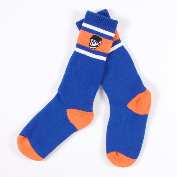 Tube Socks - Royal/Orange Skull Head