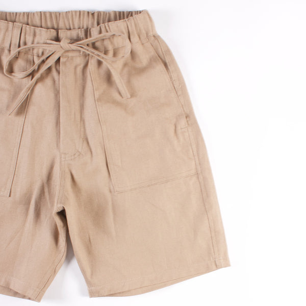 Bankview Easy Short - Khaki 8.5 oz Hemp/Cotton Canvas