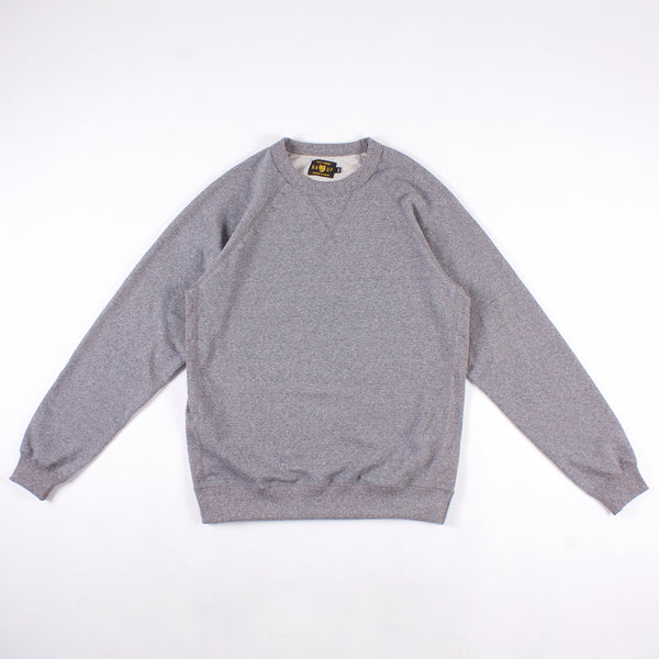 Rundle Raglan Crewneck - Salt & Pepper 14oz French Terry