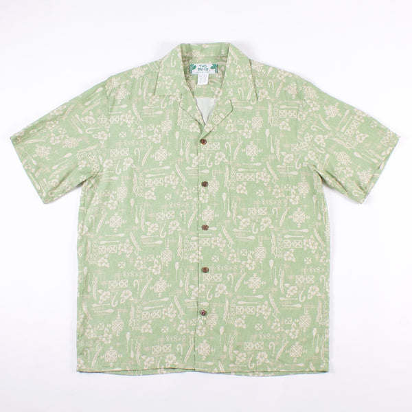 Hawaiian Shirt - Sage Hook Rayon