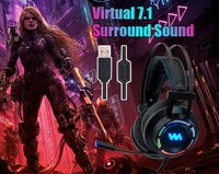7.1 Gaming Headset w/ Micfor PC Computer & Xbox One Pro