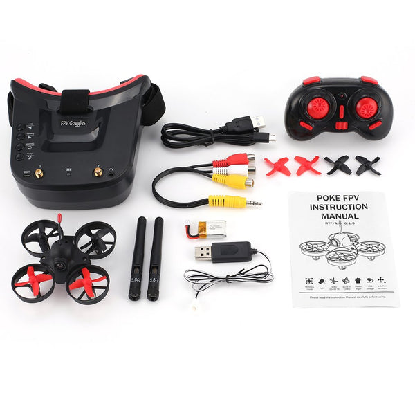 5.8G 40CH FPV Cam Mini Racing Drone w/ 3in Headset Auto-searching Goggles