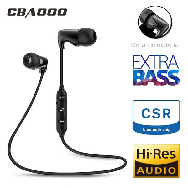 CBAOOO Ceramic Sports Bluetooth  Wireless Waterproof Hi-Fi Stereo Bass Music