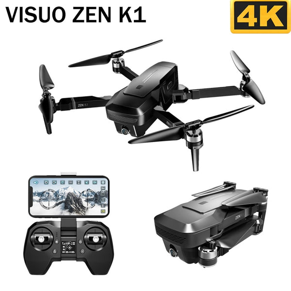 VISUO ZEN K1 5G WIFI FPV GPS 4K 720P HD Dual Camera 90 Degrees Wide Angle Foldable RC Drone Quadcopter VS XS809HW SG106 H37 M69