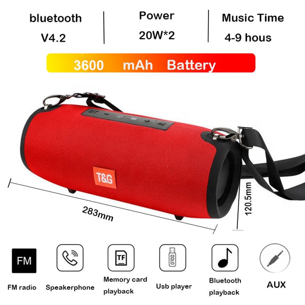 High power 40W Bluetooth speaker bass Portable