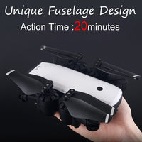 SMRC S20 1080P 120 Degree Wide-Angle Aititude Hold RC Toy Helicopter Foldable Selfie Drone Dual Battery Version