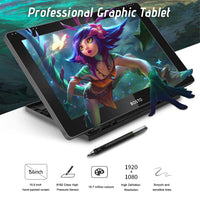 BOSTO 15.6 Inch Graphic Monitor Digital Tablet Passive Tech USB-Powered Capacitive Touchscreen