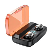 Tws Wireless Bluetooth 5.0  Mini Earbuds Mic Charging Box Sport Transparent