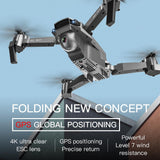 SG907 GPS Drone with 4K 1080P HD Dual Cam 5G Wifi RC Optical Flow Positioning Foldable Mini