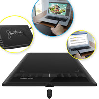 "XP-PEN Star03 Drawing Tablet 12 inch w/ 8 Hot Keys, Battery Free 10x6"" Work area for Art Design"