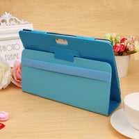 Folio Leather Stand Cover Case For 10 10.1 Inch Android Tablet