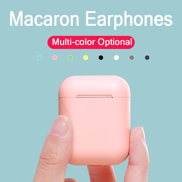 Macaron i12 tws Wireless Earphones Bluetooth 5.0 Headphones Headset Original Touch Pop-up True Stereo Earbuds Earpiece for phone
