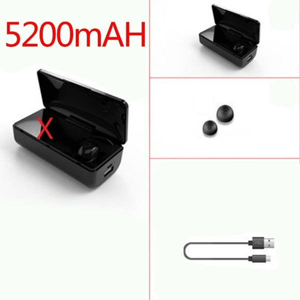 Newest TWS Wireless Bluetooth 5.0 Earbuds Power Bank  Noise Cancel