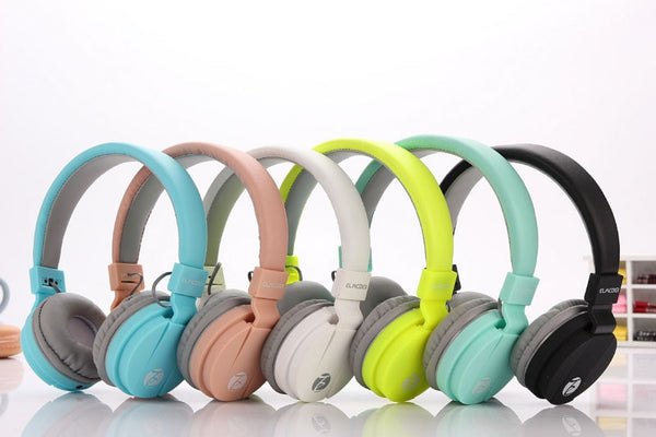 Fashion Cute Headphones Candy Color Foldable Kids w/ Mic Earphone for Mp3