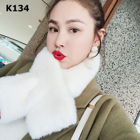 K134 Short fur scarf